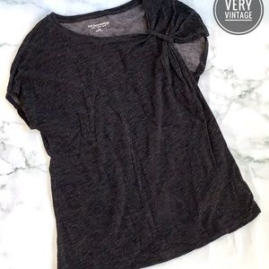 Soft Surroundings Gray Short Sleeve Top